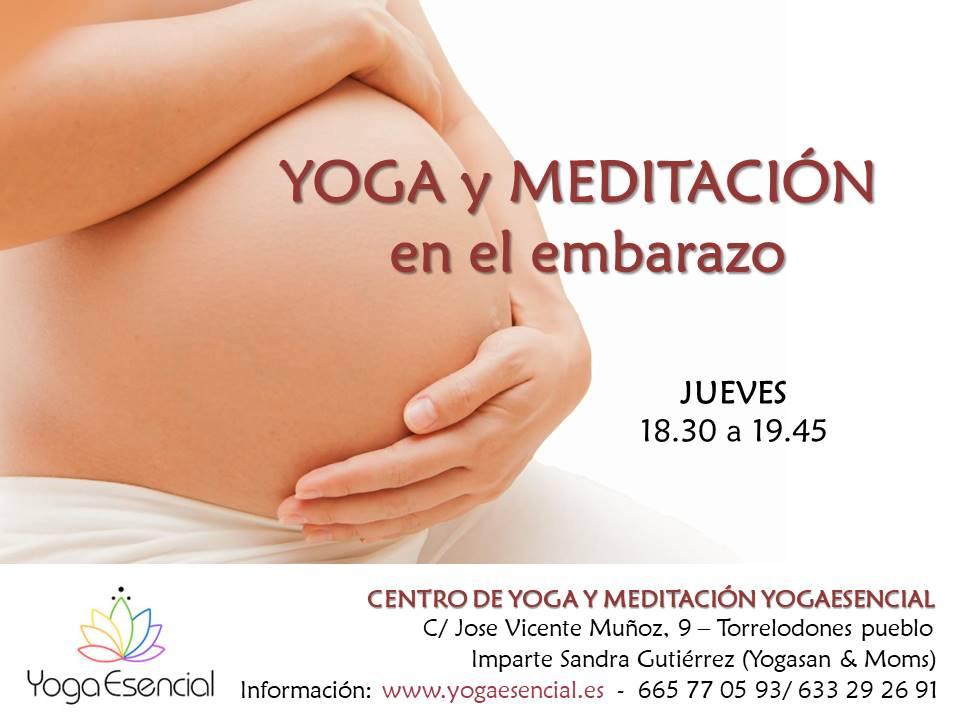 yoga y meditación en el embarazo